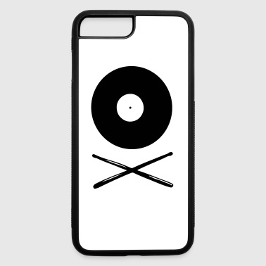 Vinyl Drumsticks Drummer - iPhone 7 Plus/8 Plus Rubber Case