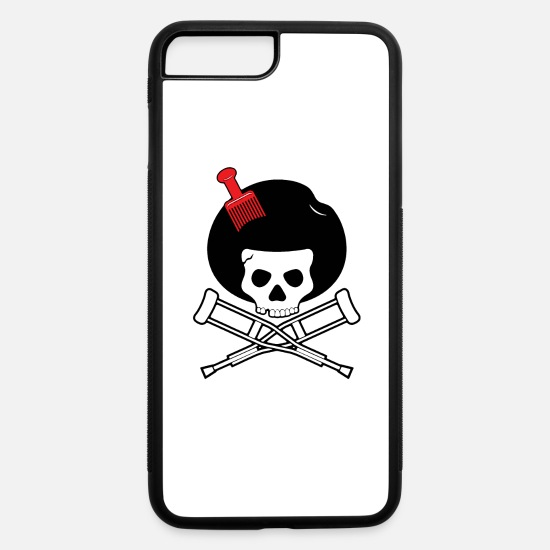 Afro iPhone Cases - Afro Jackass - iPhone 7 & 8 Plus Case white/black