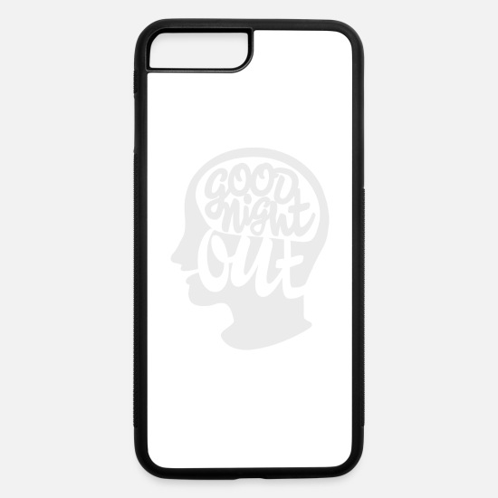 Indie iPhone Cases - Good Night Out logo white - iPhone 7 & 8 Plus Case white/black