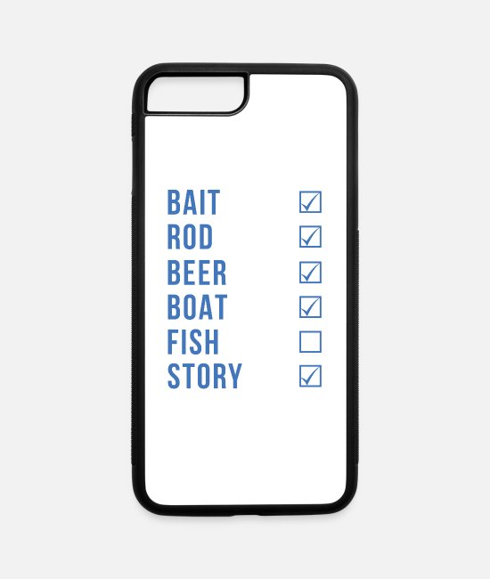 Fish Hook iPhone Cases - Fishing Checklist - iPhone 7 & 8 Plus Case white/black