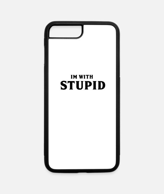 Summer Vibes iPhone Cases - plain stupid - iPhone 7 & 8 Plus Case white/black
