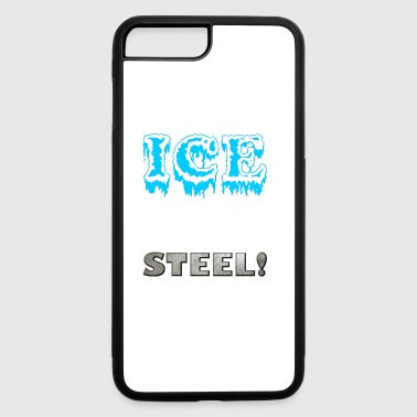 Ice meets steel - ice-skating skates frozen - iPhone 7 Plus/8 Plus Rubber Case