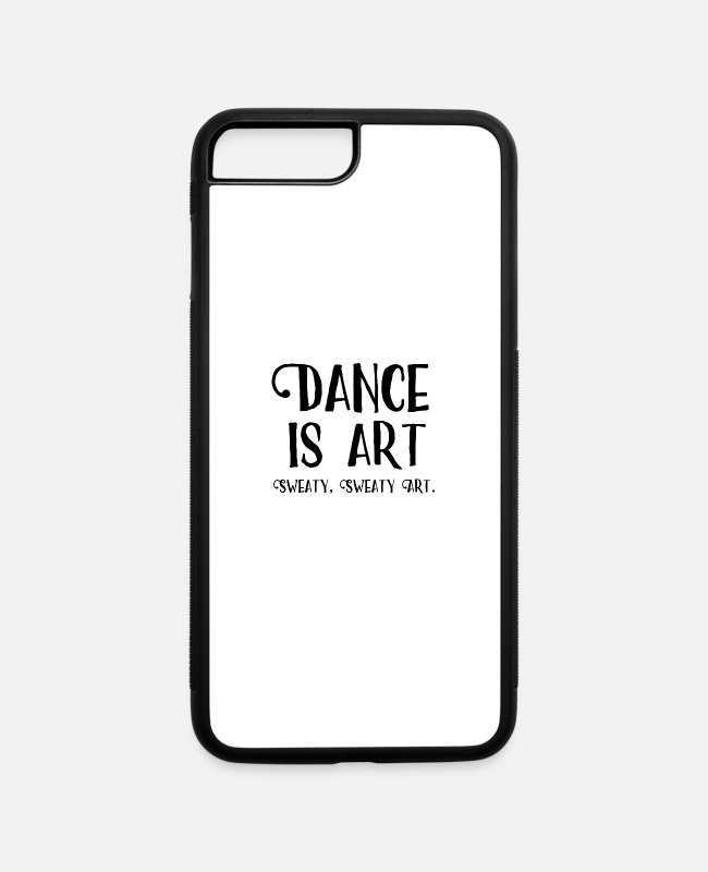 Saying iPhone Cases - Funny Dance Saying Dance Is Art square - iPhone 7 & 8 Plus Case white/black