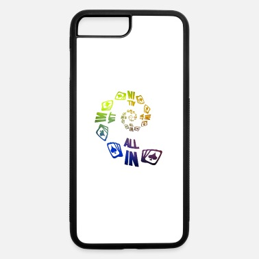Pik Poker ALL IN Karten Pik Texas Holdem - iPhone 7 Plus/8 Plus Rubber Case