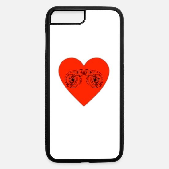 Heart iPhone Cases - Turbocharger Heart Boost Boost Pressure Tuning Tur - iPhone 7 & 8 Plus Case white/black