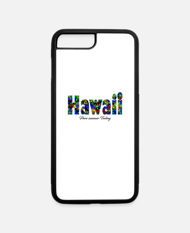 Pure-bred iPhone Cases - Hawaii pure summer pride of hawaii - iPhone 7 & 8 Plus Case white/black