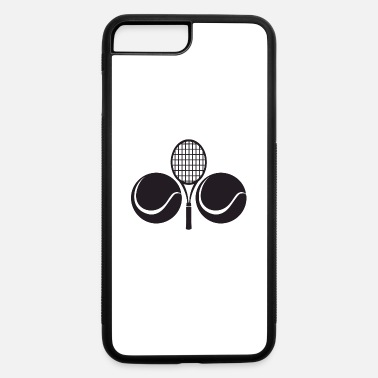 Volley Tennis racket and two balls - iPhone 7 & 8 Plus Case