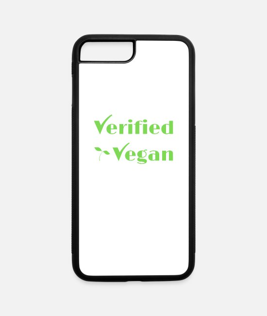 Verified iPhone Cases - Verified Vegan - iPhone 7 & 8 Plus Case white/black