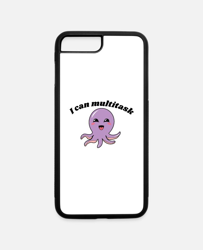 Water iPhone Cases - I can multitask Octopus - iPhone 7 & 8 Plus Case white/black