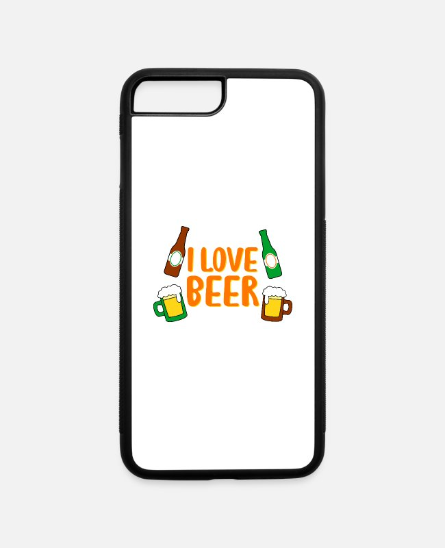 Beerathlon iPhone Cases - I LOVE BEER - iPhone 7 & 8 Plus Case white/black