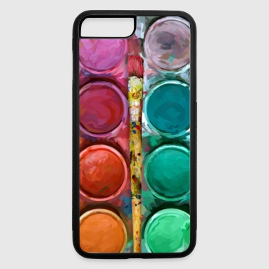 watercolor rainbow abstraction pallete Phone case - iPhone 7 Plus/8 Plus Rubber Case