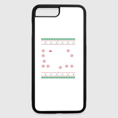Raccoon Ugly Christmas Sweater Gift - iPhone 7 Plus/8 Plus Rubber Case
