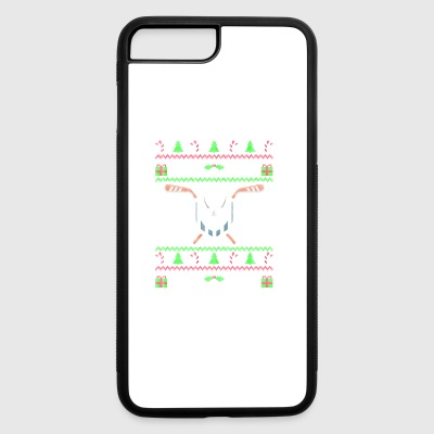 Hockey Ugly Christmas Sweater gift - iPhone 7 Plus/8 Plus Rubber Case