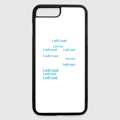 Shirt for Book reading person as a gift - iPhone 7 Plus/8 Plus Rubber Case