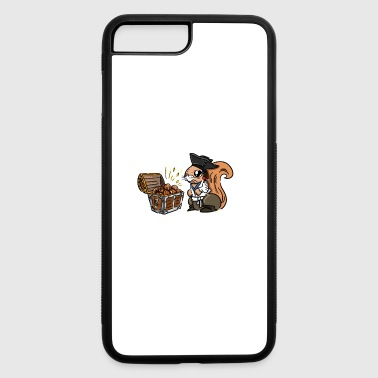 Funny squirrel. Squirrel's Treasure. Chest of nuts - iPhone 7 Plus/8 Plus Rubber Case