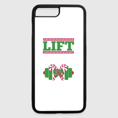 Christmas Weight Training Shirt - iPhone 7 Plus/8 Plus Rubber Case