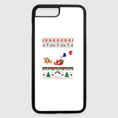French Through The Snow Ugly Christmas Sweater - iPhone 7 Plus/8 Plus Rubber Case