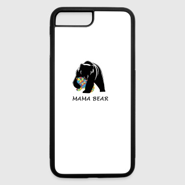 mama bear austim tshirt - iPhone 7 Plus/8 Plus Rubber Case