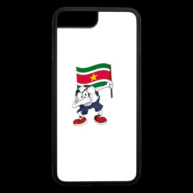 Suriname Dabbing Soccer Ball - iPhone 7 Plus/8 Plus Rubber Case