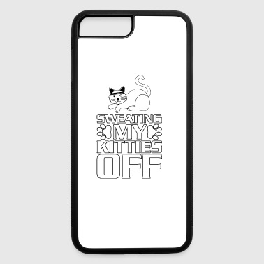 Sweating My Kitties Off Kitten Cat Workout Gym T S - iPhone 7 Plus/8 Plus Rubber Case