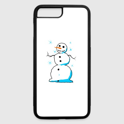 Sweet snowman with carrot nose coal mouth - iPhone 7 Plus/8 Plus Rubber Case