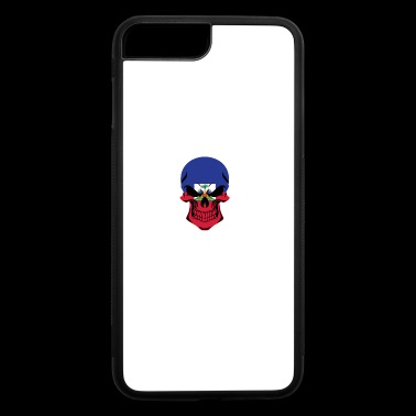 Haitian Flag Skull Haiti - iPhone 7 Plus/8 Plus Rubber Case