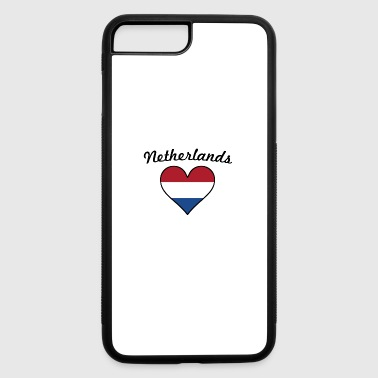 Netherlands Flag Heart - iPhone 7 Plus/8 Plus Rubber Case