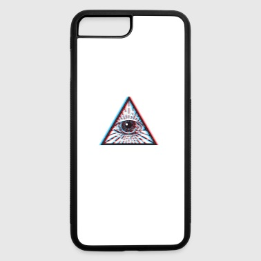 3D Illuminati Eye - iPhone 7 Plus/8 Plus Rubber Case