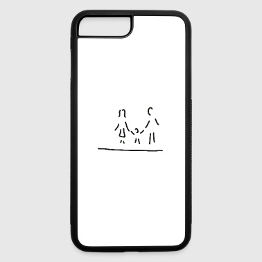 Parent with son - iPhone 7 Plus/8 Plus Rubber Case