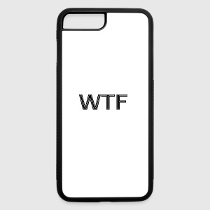 WTF simple design - Black&White - iPhone 7 Plus/8 Plus Rubber Case