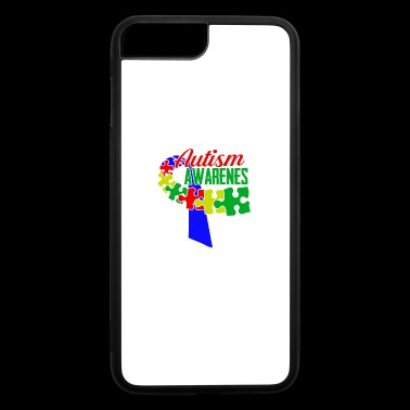 Autism Awareness Ribbon Tshirts - iPhone 7 Plus/8 Plus Rubber Case