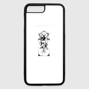 Abstract Graphic Lightbulb Skirt Girl - iPhone 7 Plus/8 Plus Rubber Case