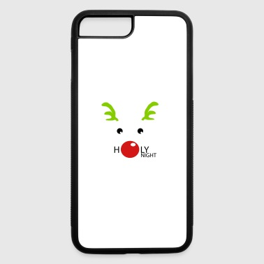 HOLY NIGHT COOL AND CUTE CHRISTMAS RENTIER - iPhone 7 Plus/8 Plus Rubber Case