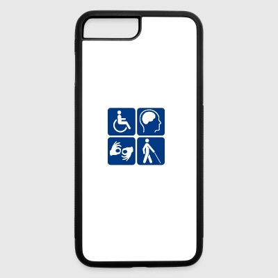 Disability symbols 16 vectorized - iPhone 7 Plus/8 Plus Rubber Case