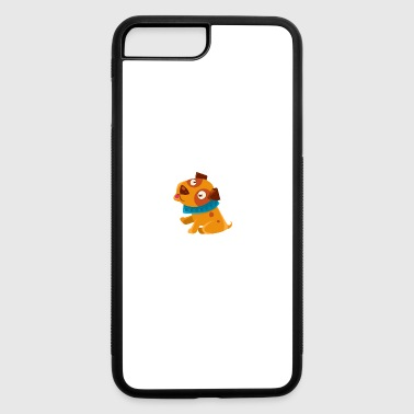 Silly Puppy With The Blue Collar Ready To Go For A - iPhone 7 Plus/8 Plus Rubber Case