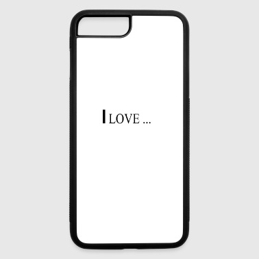 I love - iPhone 7 Plus/8 Plus Rubber Case