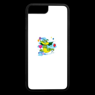 Cute Dragon Fly with Balloon and clouds on sky - iPhone 7 Plus/8 Plus Rubber Case