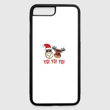 Gangsta Santa + Rudolph Yo Yo Yo Christmas Gift - iPhone 7 Plus/8 Plus Rubber Case