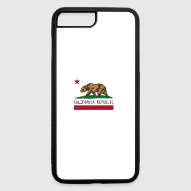 California Pixel Flag - iPhone 7 Plus/8 Plus Rubber Case