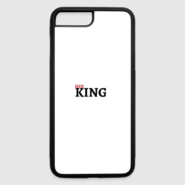 Queen King Valentines Day Couple Gift - iPhone 7 Plus/8 Plus Rubber Case