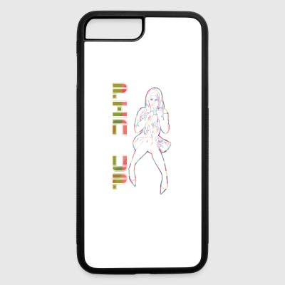 PIN_UP_GIRL_showing_finger - iPhone 7 Plus/8 Plus Rubber Case