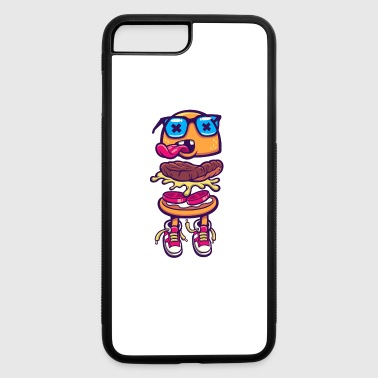 burger monster sneakers language food - iPhone 7 Plus/8 Plus Rubber Case