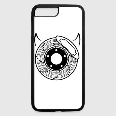 car bike cycle brake disc and devil horns - iPhone 7 Plus/8 Plus Rubber Case