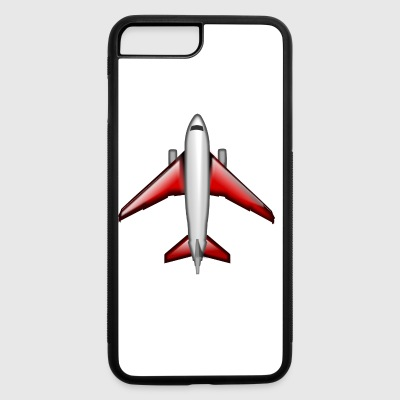 airplane aeroplane flugzeug heissluftballon air ba - iPhone 7 Plus/8 Plus Rubber Case