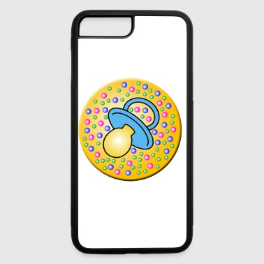 button with Baby pacifier - iPhone 7 Plus/8 Plus Rubber Case