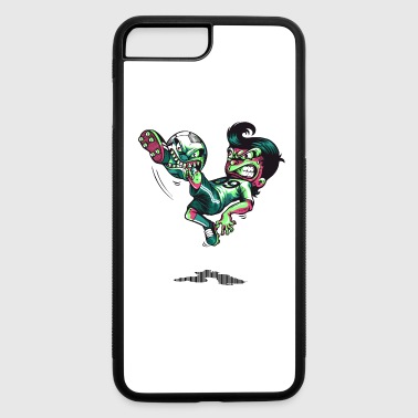 soccer ball biting soccer players leg - iPhone 7 Plus/8 Plus Rubber Case