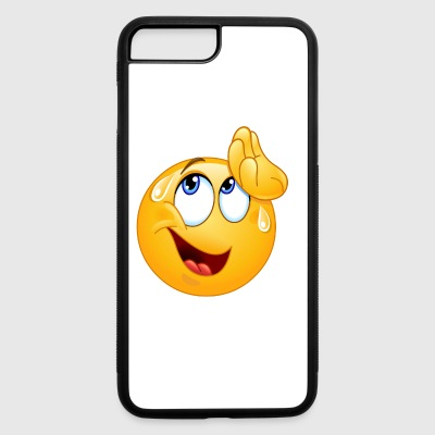 wiping sweat emoticon - iPhone 7 Plus/8 Plus Rubber Case