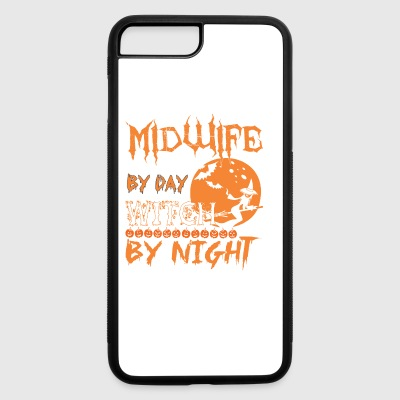 Midwife By Day Witch By Night Halloween - iPhone 7 Plus/8 Plus Rubber Case