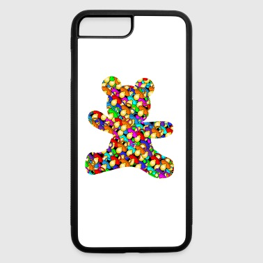 teddy out of pacifiers - iPhone 7 Plus/8 Plus Rubber Case