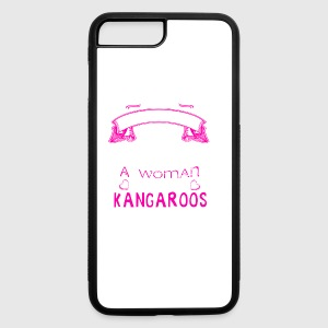 Woman Loves Kangaroo Shirt - iPhone 7 Plus/8 Plus Rubber Case